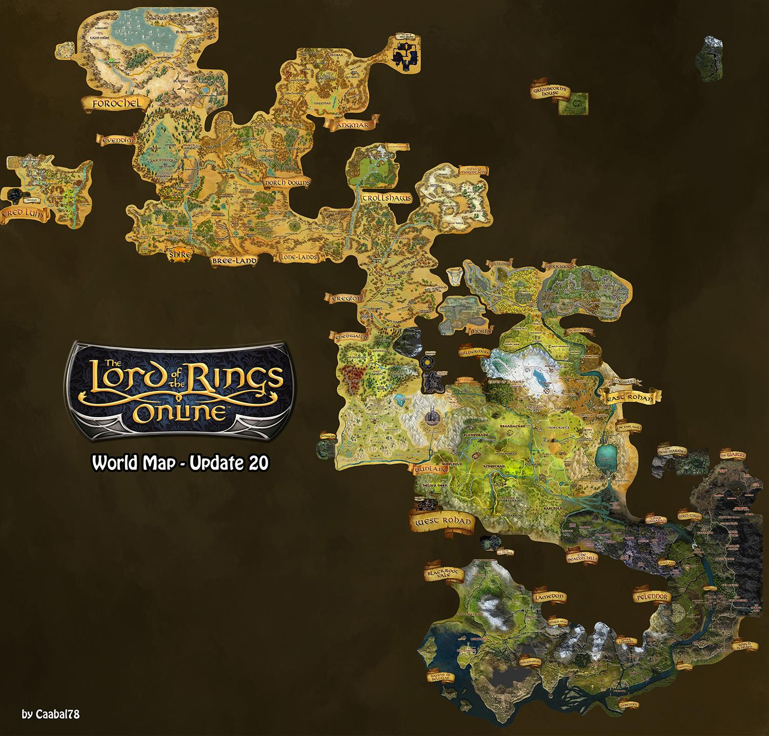 Lord Of The Rings Online World Map.Lotrointerface Lotro World Map Overlay Lotro World Map Overlay
